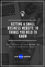 Desktop from above with 'Getting a small business website:10 things you need to know' written over the image